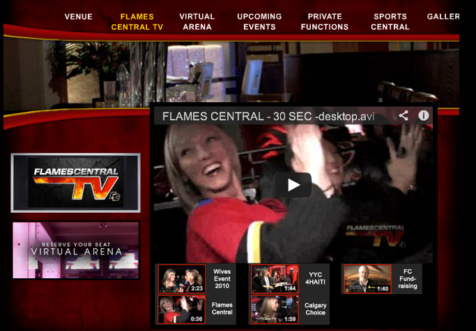 Calgary Web Video - Flames Central TV - BizBOXTV